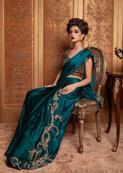 Teal Saree